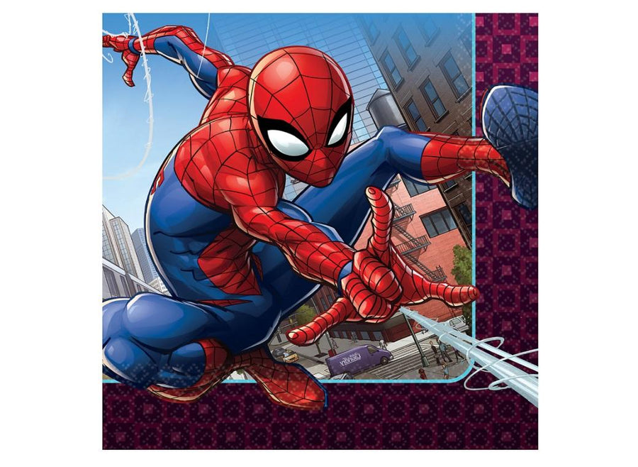 Spiderman Lunch Napkins (Pack of 16)