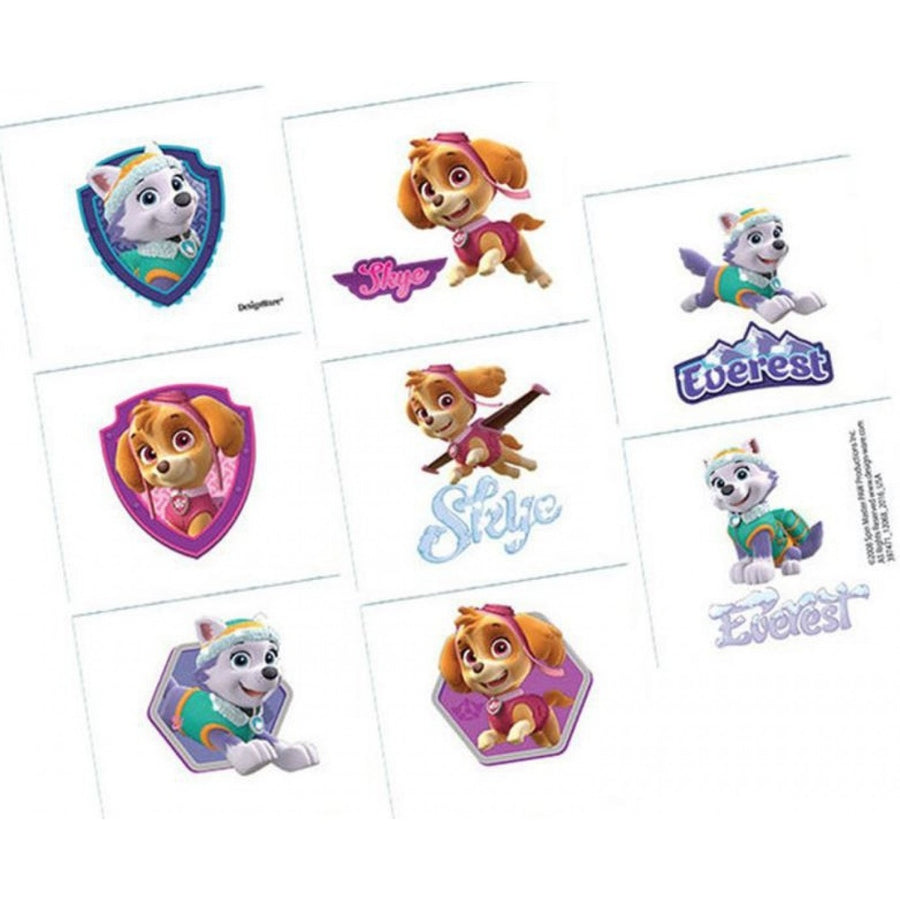 Paw Patrol Girls Tattoo Party Favours (8 Tattoos)