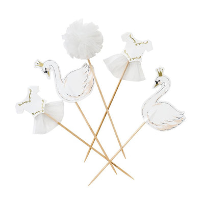 We ❤ Swans Cake Toppers (Pack of 12)