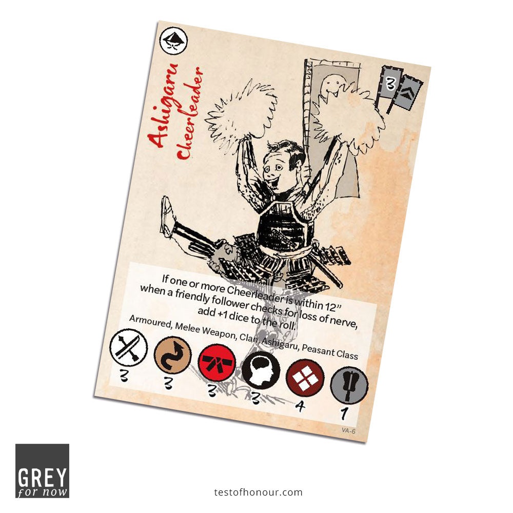 Ashigaru Cheerleader bonus card