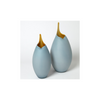 FROSTED BLUE VASES