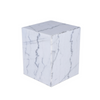 MATISSE WHITE MARBLE SIDE TABLE
