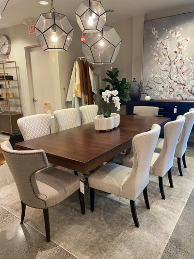 CONTEMPO METAL BASE DINING TABLE floor model