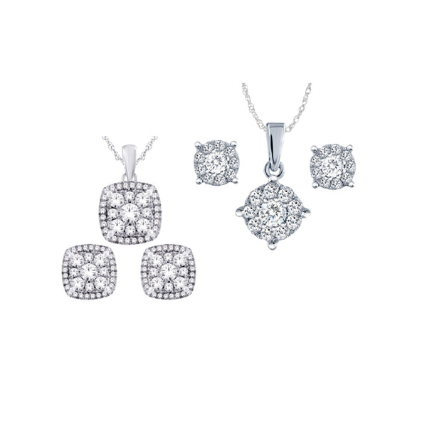 DIAMOND GIFT SET (PENDANT & EARRINGS) 1/2 CTW. 14K