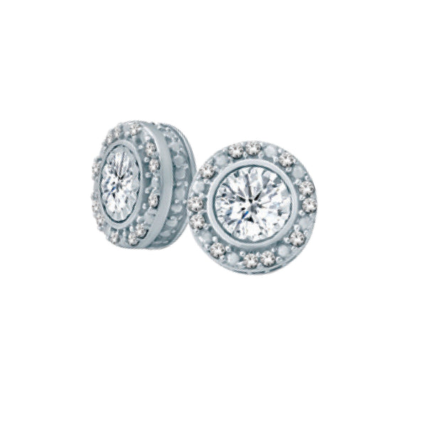 GORGEOUS DIAMOND EARRINGS IN WHITE GOLD