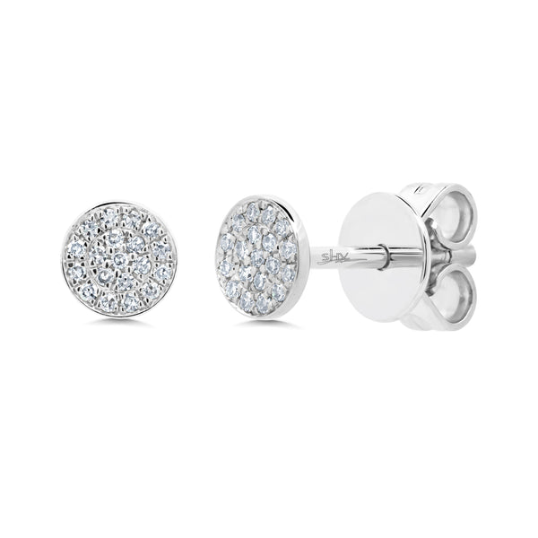 .7 Diamond & 14 Kt White Gold Stud Earrings