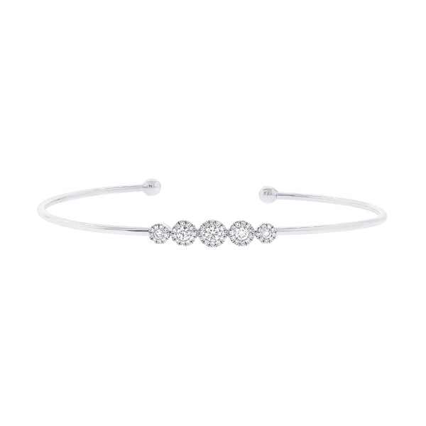 Diamond & White Gold Bangle Bracelet