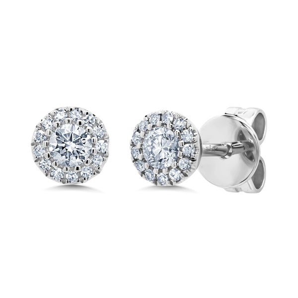 .24 Ctw Diamond & 14 Kt White Gold Studs