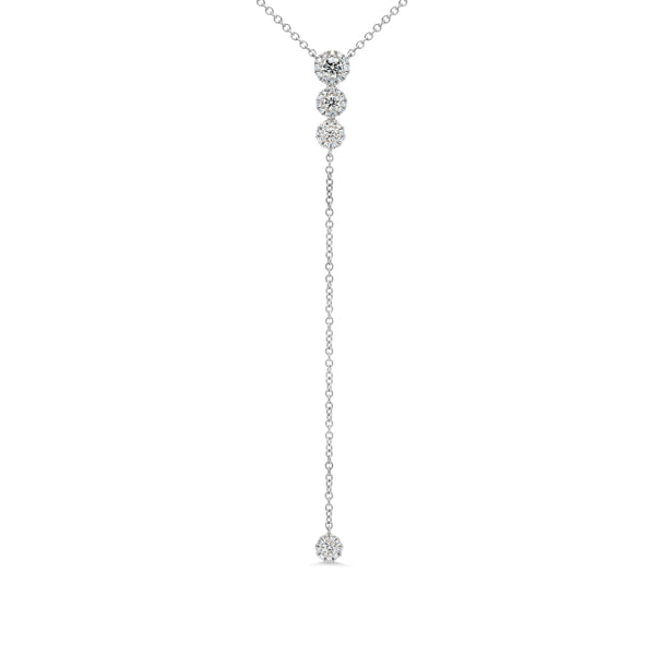 .29 Ctw Diamond & 14 Kt White Gold Long Necklace