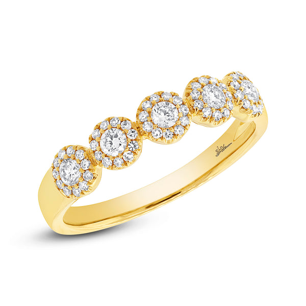 .0.25 Ct Diamond & 14 Kt Yellow Gold  Band