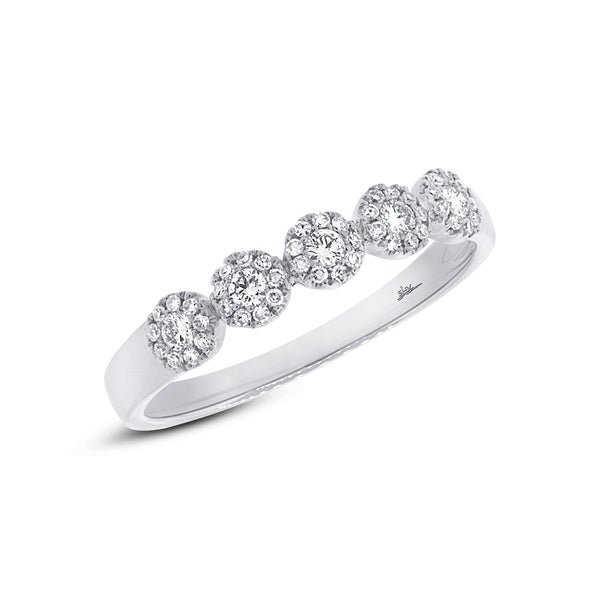 .25 Ct Diamond & 14 Kt White Gold  Band