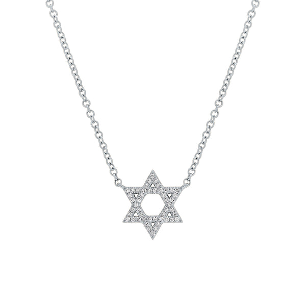.11 Ctw Diamond & 14Kt Gold Star of David