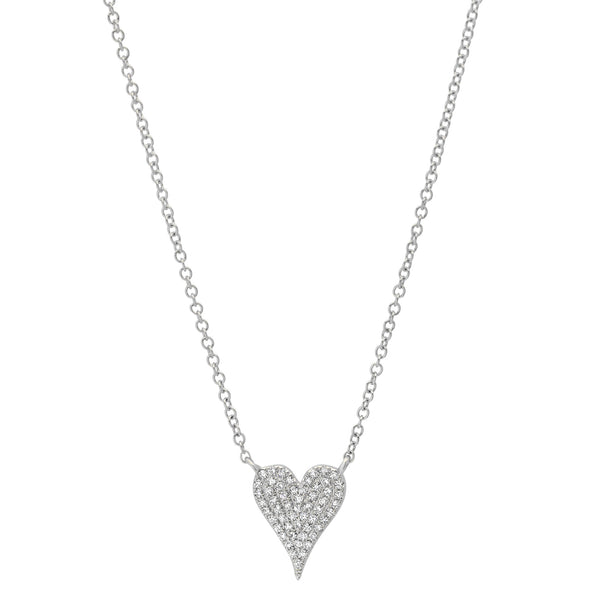 Diamond & White Gold Heart Pendant