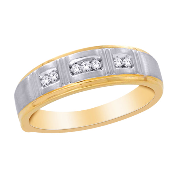 DIAMOND TWO-TONE MENS RING