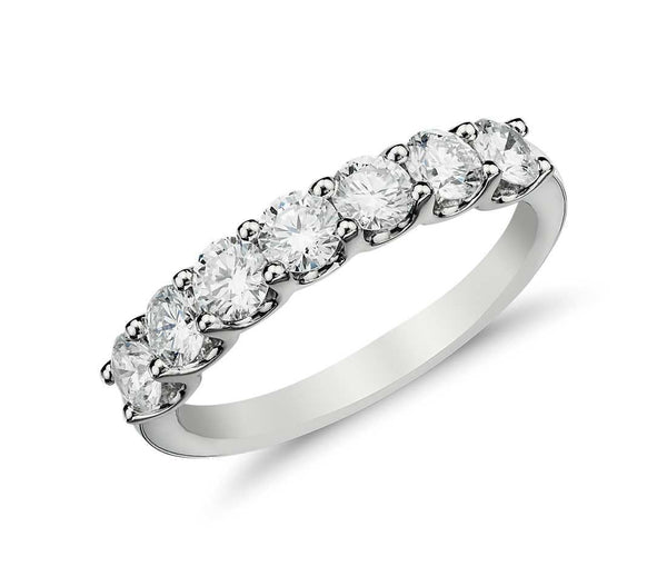 Diamond Band, Round Brilliant cut diamonds 1/5 CTW. 10kt White Gold