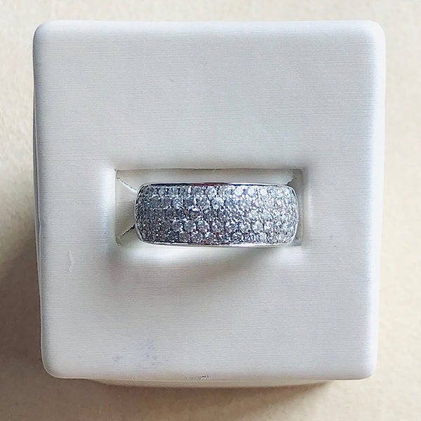 1.00 Ctw Diamond White Gold Five-Row Band
