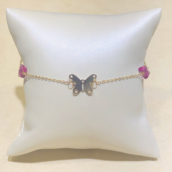 10Kt Yellow Gold Butterfly Bracelet