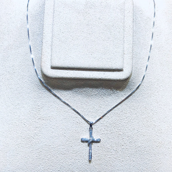 .08 Ctw Diamond Cross Pendant