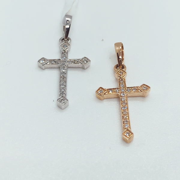 0.04 Ctw Diamond Cross Pendant
