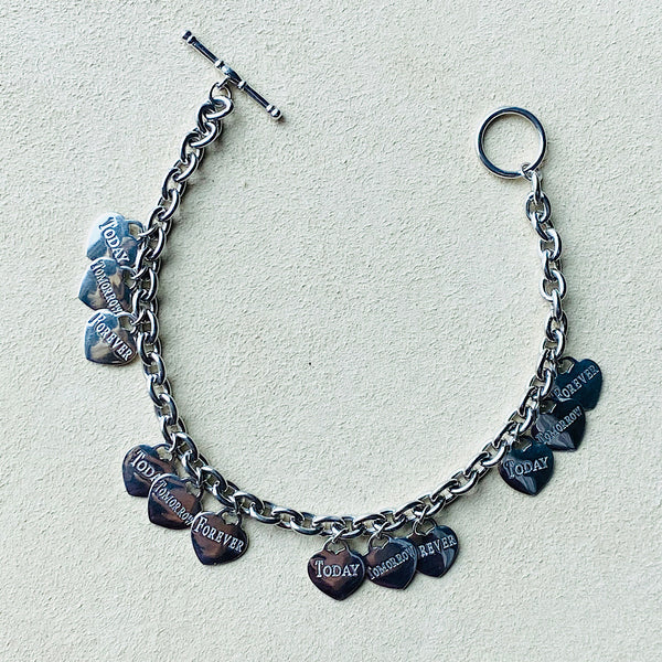 Today, Tomorrow and Forever Charm Bracelet