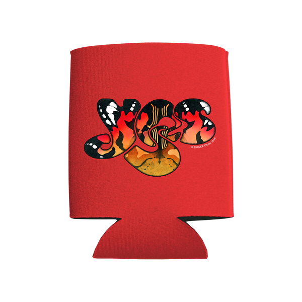 YES monarch logo red sublimated full color koozie.