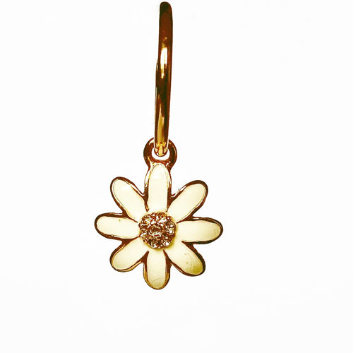 DAISY CHAIN HOOP GOLD EARRING