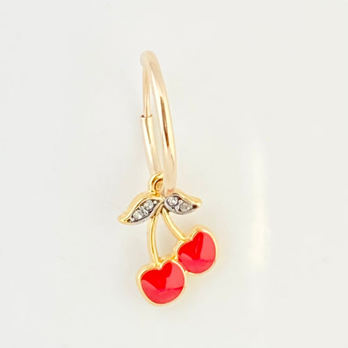 CHERRY BOMB HOOP EARRING