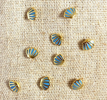 Load image into Gallery viewer, Mini Gold Sea Shell Studs