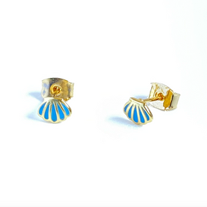 Mini Gold Sea Shell Studs