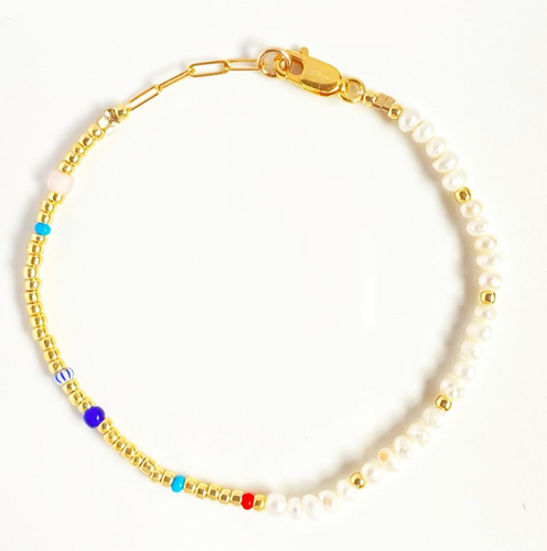 PEARLY PEARL GOLD SISTER BRACELET