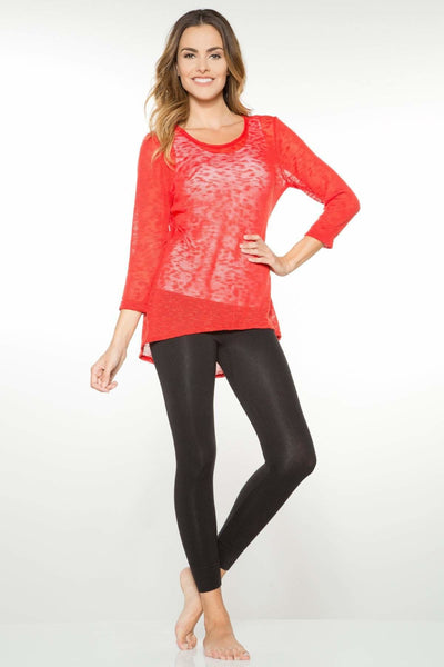3/4 Sleeve Slub Top - Rhonda Shear