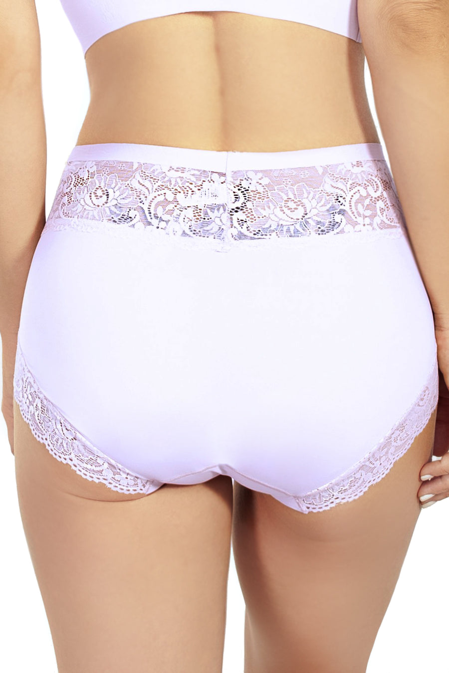 Body Brief with Lace Detail - Rhonda Shear
