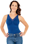 Seamless Tank with Lace Detail - Rhonda Shear
