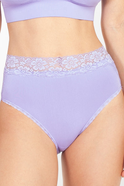 Seamless Brief with Lace Detail - Rhonda Shear