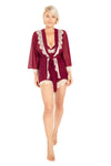 Up All Night Lace Trim Robe - Rhonda Shear