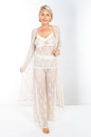 Up All Night Stretch Lace Duster - Rhonda Shear