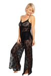 Up All Night Stretch Lace Cami and Pant Set - Rhonda Shear
