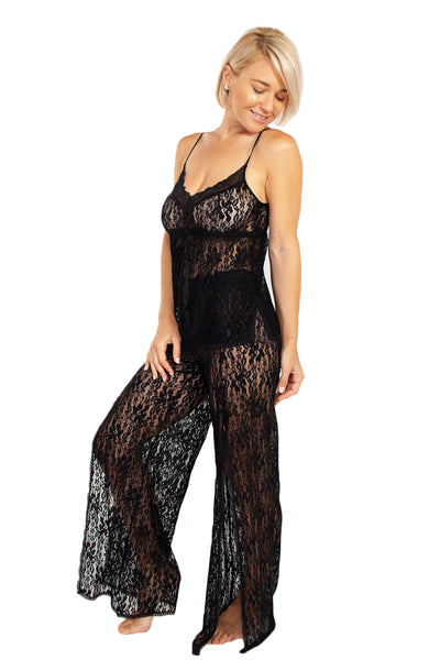 Up All Night Stretch Lace Cami and Pant Set