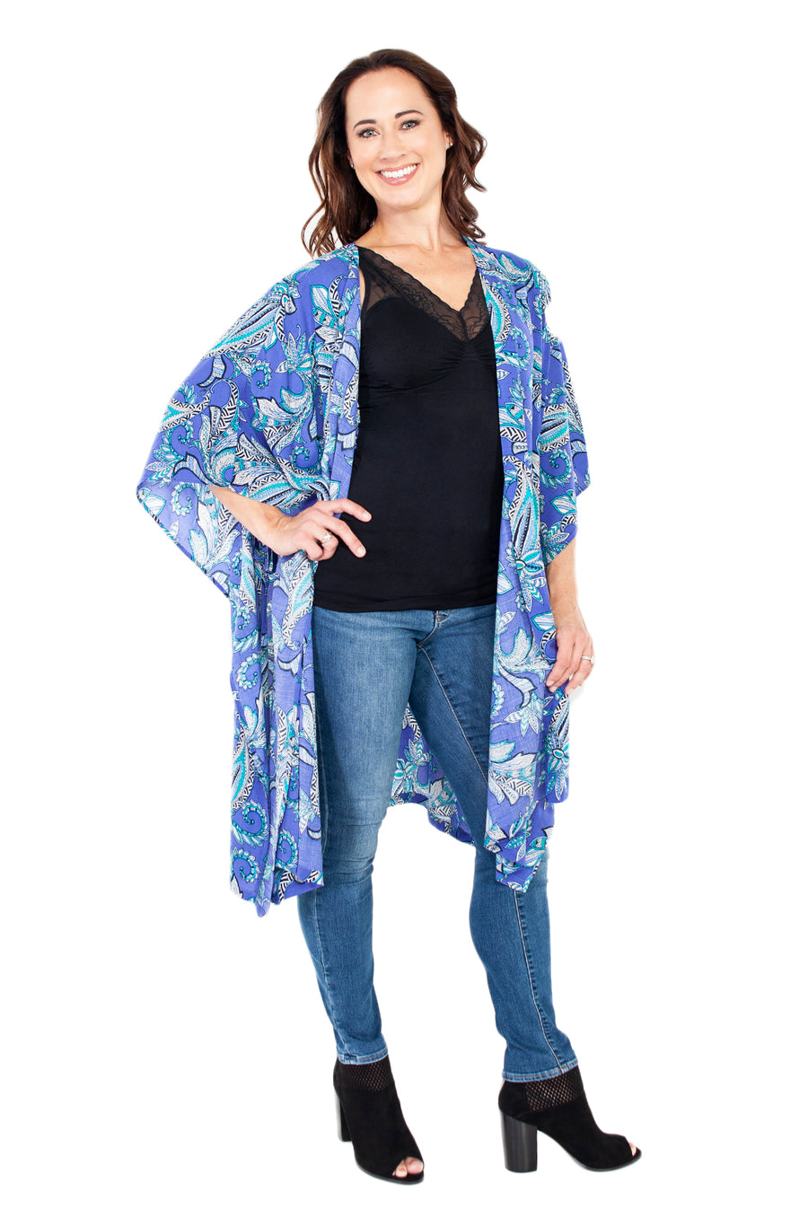 Kimono Robe with Side Ties - Rhonda Shear