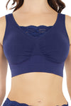 Cotton Blend Seamless Bra - Rhonda Shear