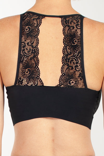 Body Bra with Lace Back