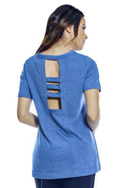 Ahh Dreams Cut Out Back Top - Sailor Blue Top / S - Apparel