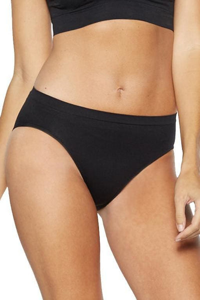 Ahh Seamless High Cut Brief - Black / XS - Intimates