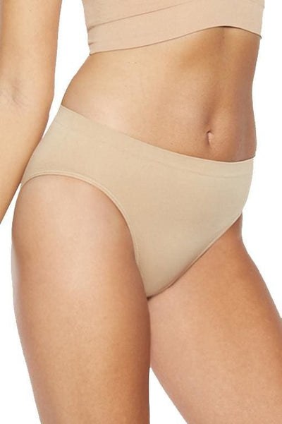 Ahh Seamless High Cut Brief - Nude / XS - Intimates