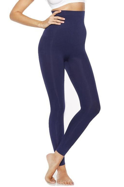 Ahh Smooth Tootsie High Waist Shaping Legging - Navy / L - Intimates