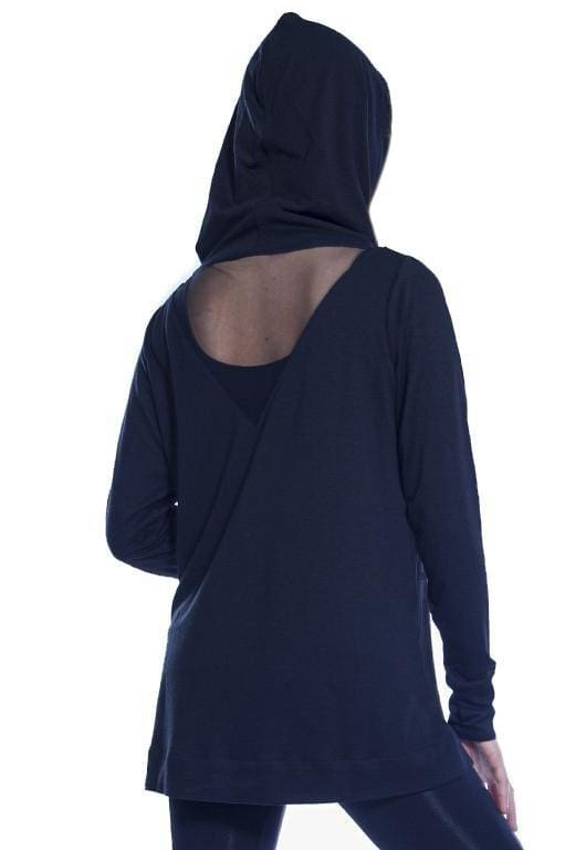 AhhDreams Hooded Top with Mesh Inset - Rhonda Shear
