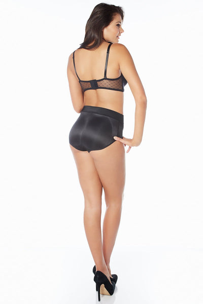 Booty Galore High Waisted Padded Brief - Black / 1X - Intimates