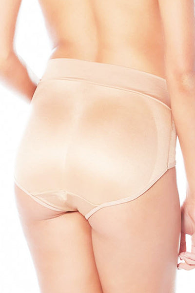 Booty Galore High Waisted Padded Brief - Nude / L - Intimates