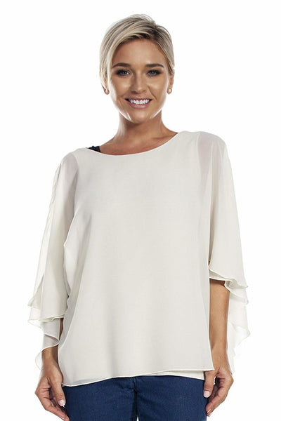 Chiffon Caftan with Crochet Back - Apparel