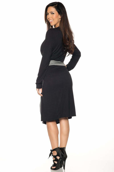 Contrast Long Sleeve Shrug-FINAL SALE - Apparel
